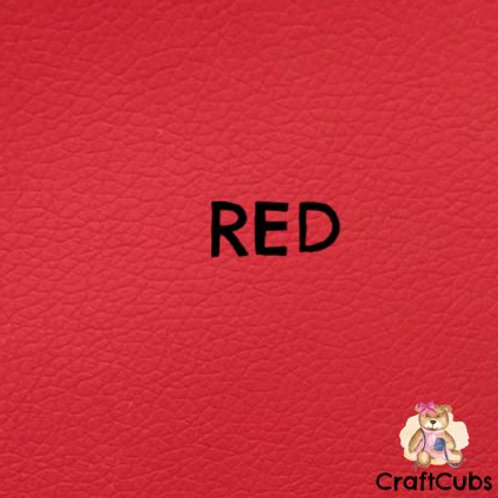 Pebbled Vinyl Fabric in Red