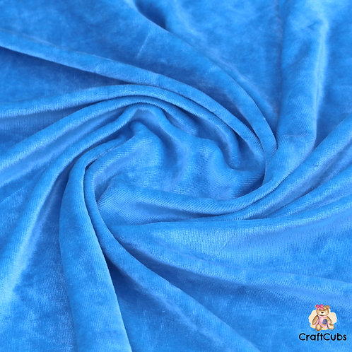 Bamboo Velour Towelling Fabric in Blue