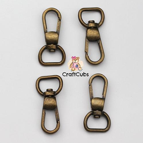 13mm (1/2inch) Swivel Hook in Bronze