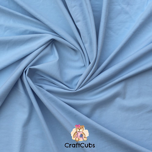 Baby Blue Cotton Lycra 170gsm