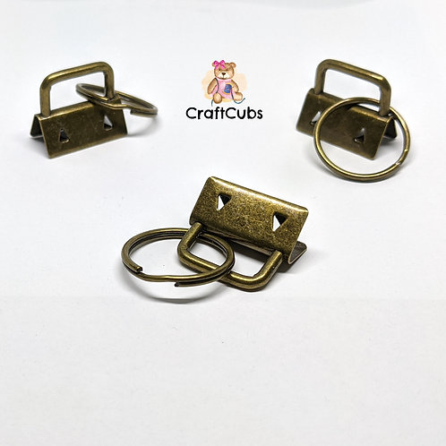 25mm Key Fob with Split Ring (1 inch) in Bronze