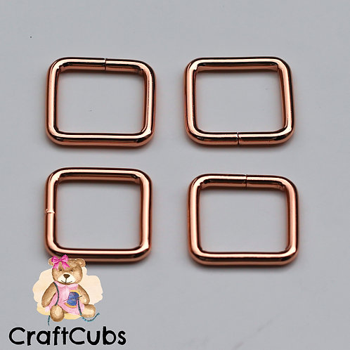 20mm (3/4 inch) Bag Buckle in Rose Gold