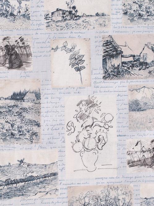 Robert Kaufman Van Gogh Midnight Fabric