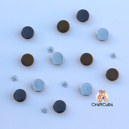 17mm Smooth Jeans Button