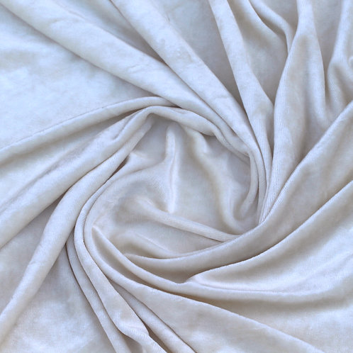 Bamboo Velour Towelling Fabric in Natural