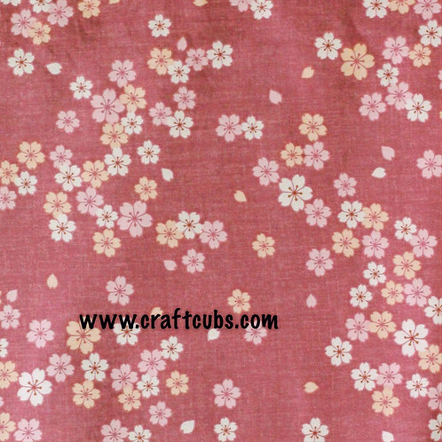 Fiona Floral Cotton Fabric (Pink)