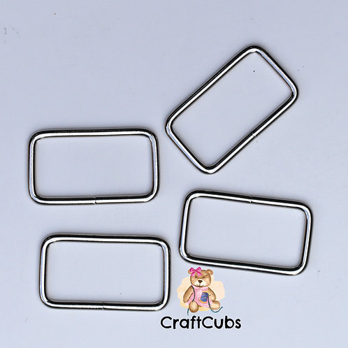 38mm (1.5 inch) Bag Buckle in Silver