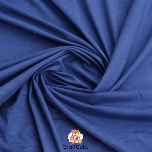 Berry Blue Cotton Lycra 210gsm