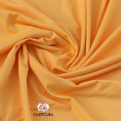 Golden Yellow Cotton Lycra 210gsm