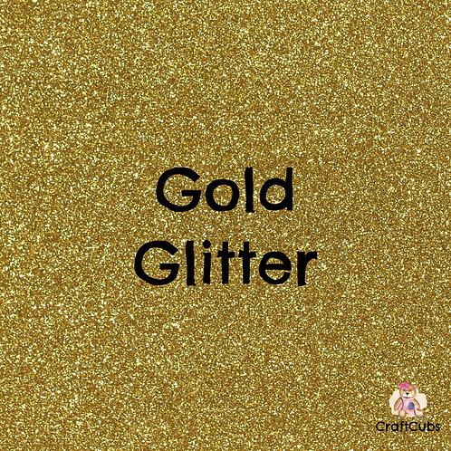 Glitter Vinyl in Gold