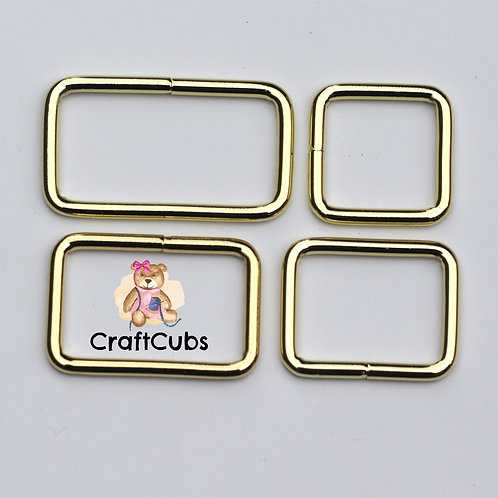 32mm (1.25 inch) Bag Buckle in Gold