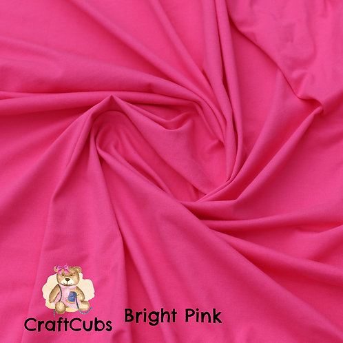 Bright Pink Cotton Lycra 210gsm
