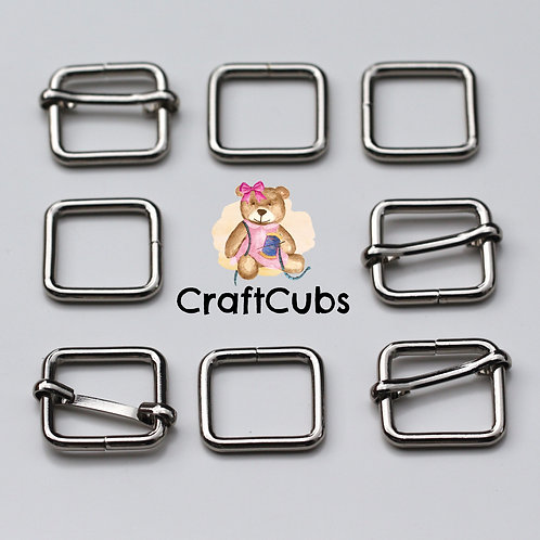 20mm (3/4 inch) Bag Buckle in Silver