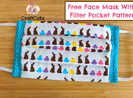 Free Face Mask Pattern with Filter Pocket