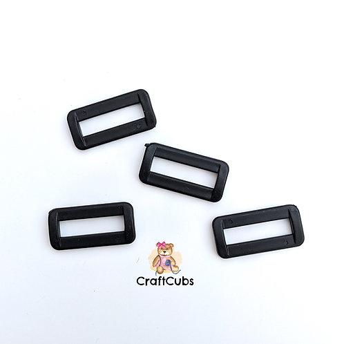 25mm (1 inch) Plastic Rectangular Rings/Buckles