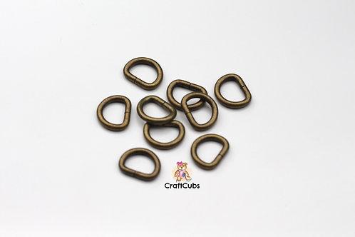 13mm D Ring in Bronze