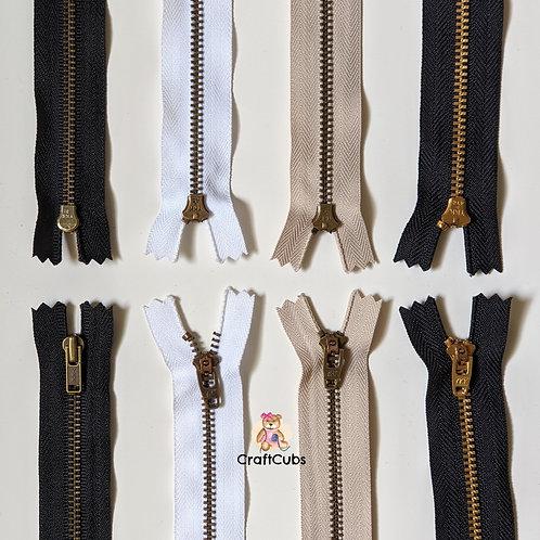 YKK Metal Zipper (8 inch/20cm)