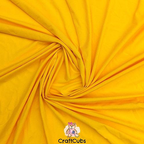 Amber Yellow Cotton Lycra 170gsm