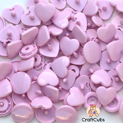 T5 Kam Snaps in Heart Pastel Pink (B18)