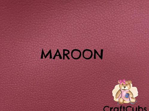 Pebbled Vinyl Fabric in Maroon