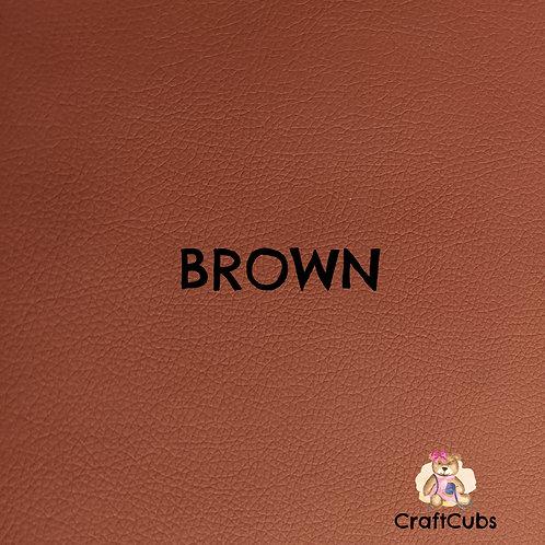 Pebbled Vinyl Fabric in Brown