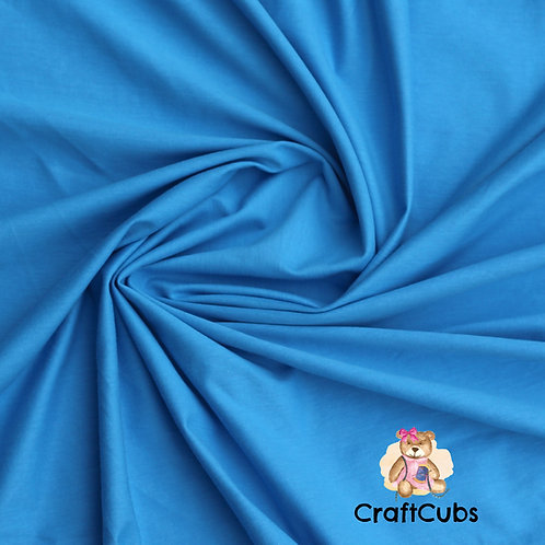 Sky Blue Cotton Lycra 210gsm