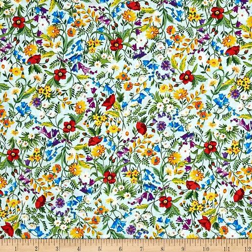 London Calling Leaf Spray Cotton Fabric by Robert Kaufman
