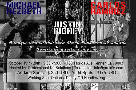 Trifecta. Michael Nezbeth, Carlos Ramirez, Justin Rigney Seminar