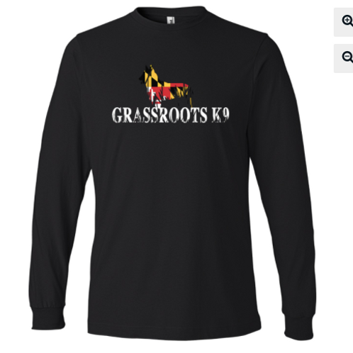 Long Sleeve GRK9 Maryland Logo Designed Tee- Shirt