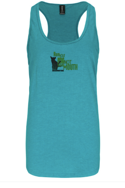 Run your dog not your mouth tank top