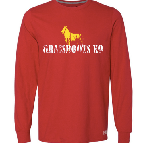 Hot Red Grassroots K9 Logo Long Sleeve