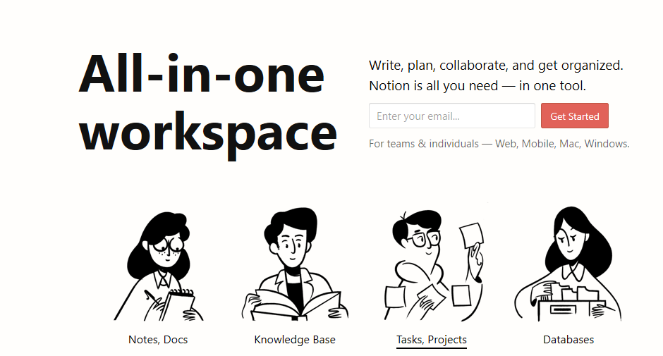 Notion all in one workplace