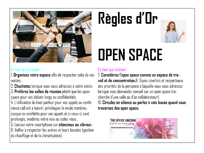 Regle d'or Open Space Blog The Office Unicorn