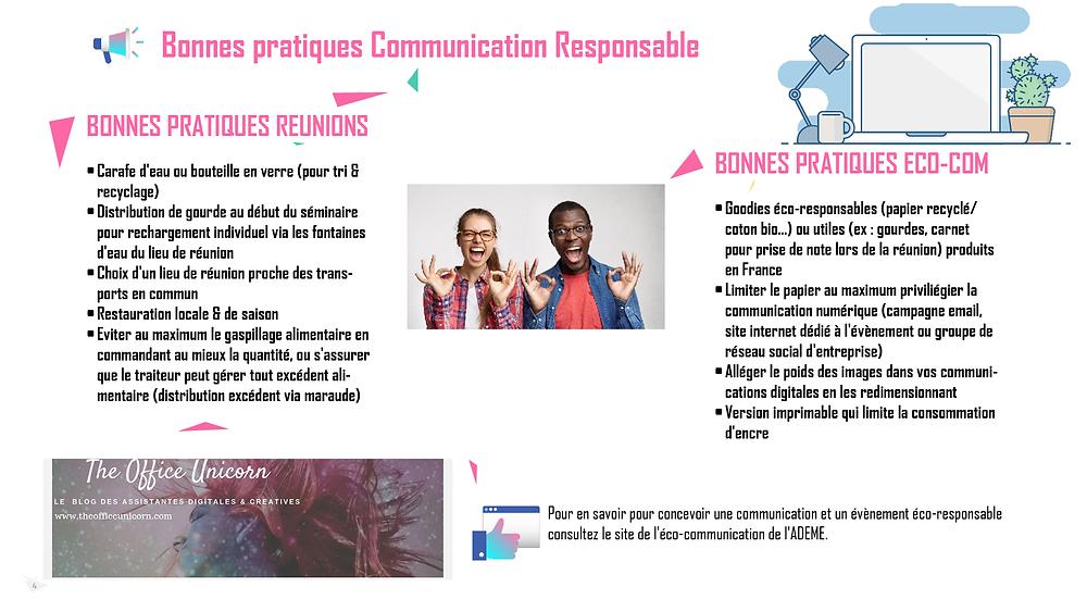 bonnes pratiques communication responsable