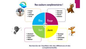 Code couleurs personnalité Insight Blog des assistantes The Office Unicorn