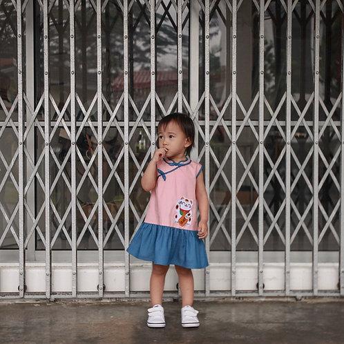 Neko Dress (Blush Pink)