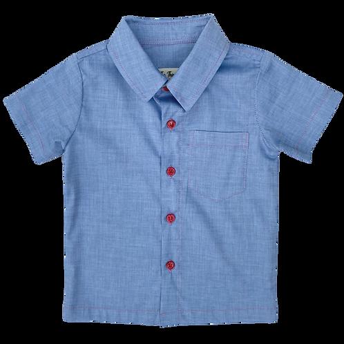 Blue Tencel Shirt