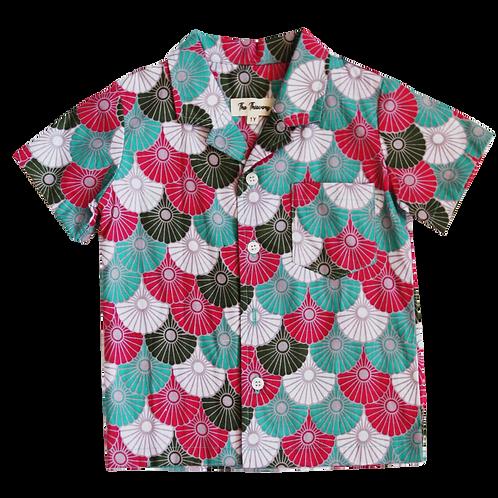 Batik Fans Shirt (Green/Pink)