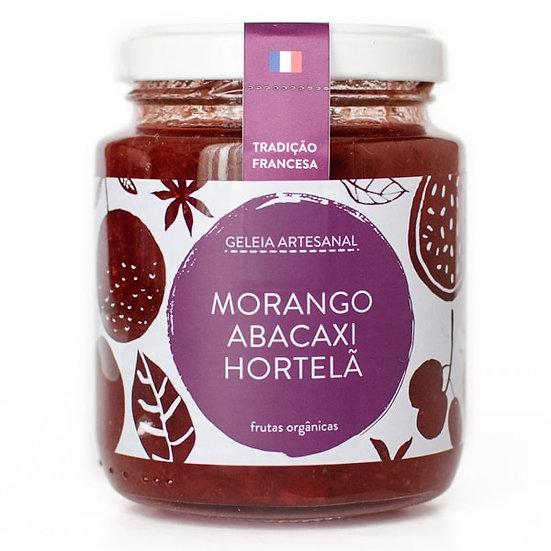 Geleia Morango Abacaxi Hortelã