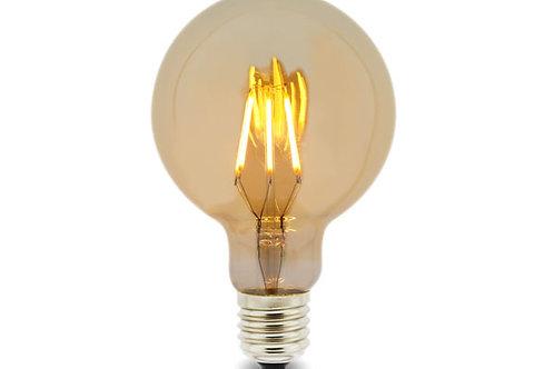 E27 G95 AMBER LAMP 6W