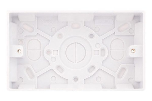 Selectric 2Gang PVC 47mm Surface back box