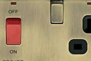 BG Nexus Cooker Unit 13A / 45A switch Antique bronze / Black Insert