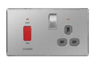 BG Nexus Cooker Unit 13A / 45A switch BS/ Black Insert