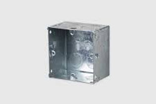 Metal Flush 1 Gang Back Box 35mm