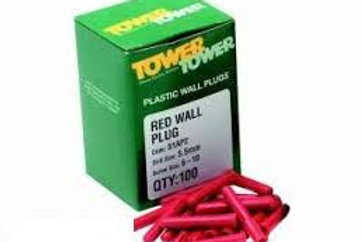 Tower Red Wall Plugs 6-10mm