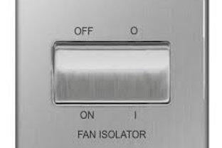 BG Screwless Fan Isolator 10A 3 pole BS/ Flatplate