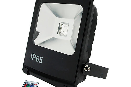 Flood light 50W RGB + Remote white finish