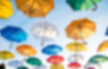 umbrellas different colors in the air -  image found in Arise & Shine Arts and Entertainment (ASAE) Christian Community helping emerging artists and creatives by providing ministry, education and resources.
