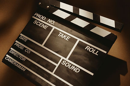 Film productin slate -  image found in Arise & Shine Arts and Entertainment (ASAE) Christian Community helping emerging artists and creatives by providing ministry, education and resources.