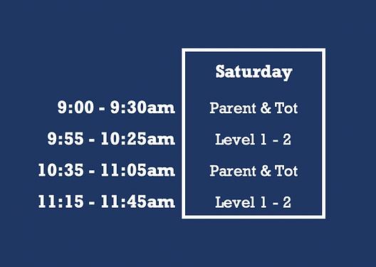 Aquatic Club of Brookfield - Saturday Summer Schedule